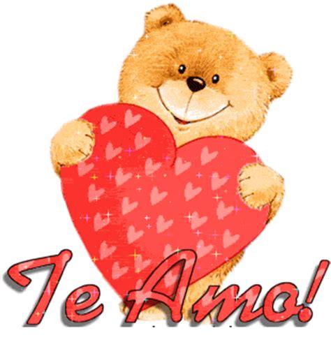 imagenes de amor animadas de osos imagenes animadas de un osito con corazones y un te amo