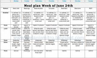 week 1 meal plan beast t25 hybrid clean weight loss meals weight