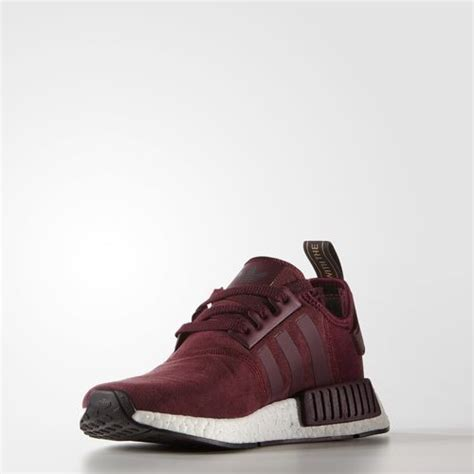 Adidas Nmd R1 Maroon Bergundy uk cheap womens adidas orininals nmd r1 primeknit casual
