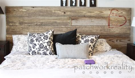 Diy Size Headboard by White Repurposed Rustic King Size Headboard Diy