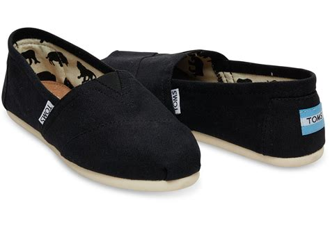 Black Shoes by Black Canvas S Classics Toms 174