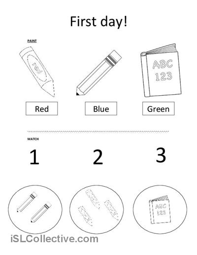 coloring pages for kids classroom objects 10 best images of classroom objects coloring worksheets
