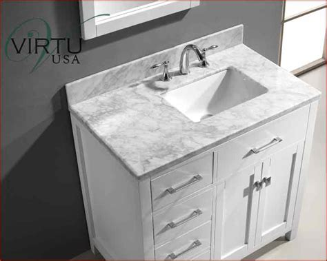 36 Vanity Top With Offset Sink Virtu Usa 36 Quot Square Sink Bathroom Vanity Caroline Vu Ms