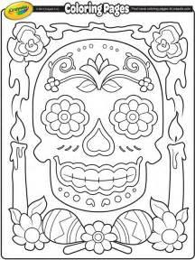 dia de los muertos coloring pages dia de los muertos coloring page crayola