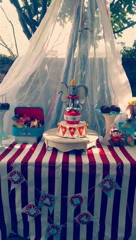 dumbo circus baby shower party ideas photo    catch  party