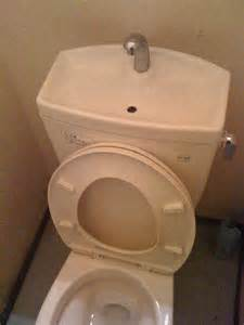 Toilet With Sink On Tank Diy A Really Cool Handwashing Station That Fills Your