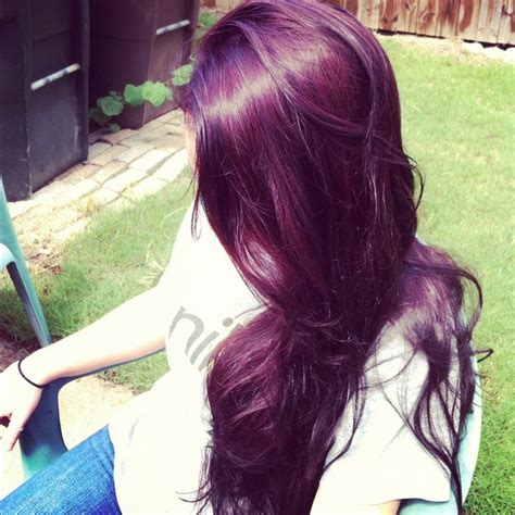 Plumb Hair Colour by Not A Pic Of Hair But Hair Has To Turn Out The Same