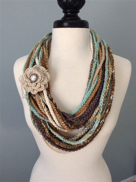 crochet pattern types crocheted necklace scarf wool different types of and