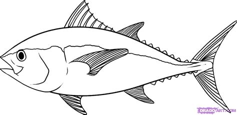 free coloring pages of draw the fish
