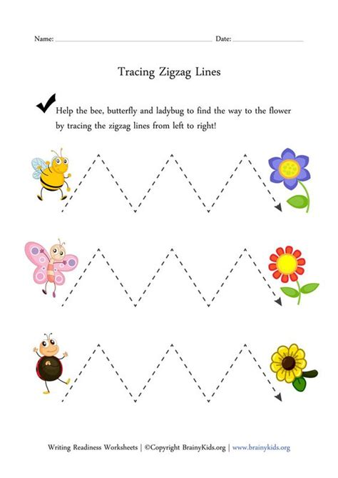 zigzag tracing pattern tracing zigzag lines worksheet prewriting writing