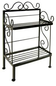 Wrought Iron Bakers Rack Outdoor Shop Houzz All About The Home Wrought Iron Plant Stand