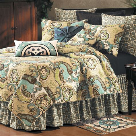 Quilted Bedding by Kasbah Paisley Quilt Bedding