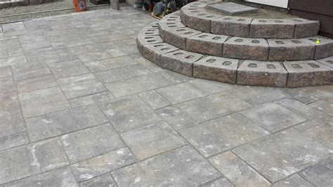 building patio paver stairs how to build patio steps from pavers icamblog