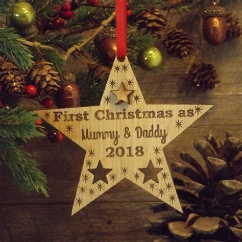 First 1st Christmas as Mummy & Daddy Personalised Star