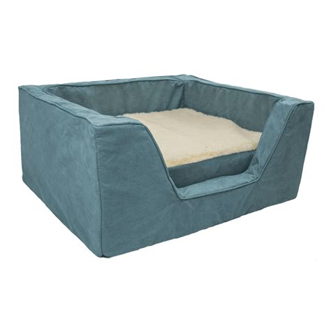 luxury pet beds luxury square dog bed with memory foam by snoozer pet products