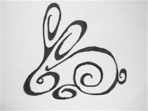 rabbit tribal tattoo designs 10 rabbit designs sles and ideas