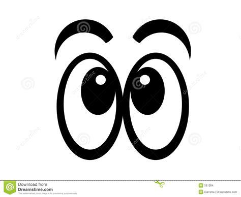 clipart occhi bw comico degli occhi illustrazione di stock