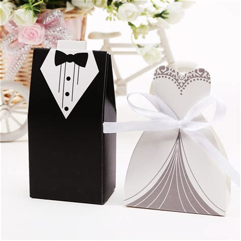 Favor Box Wedding by 100 Pcs And Groom Wedding Favor Box Gift