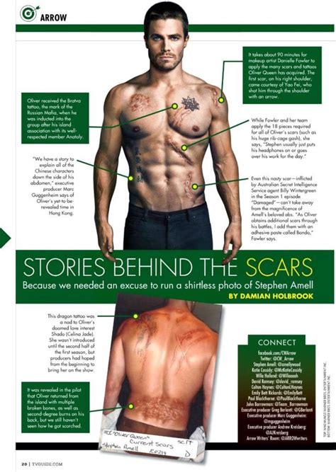 stephen amell tattoo stories the scars green arrow arrow