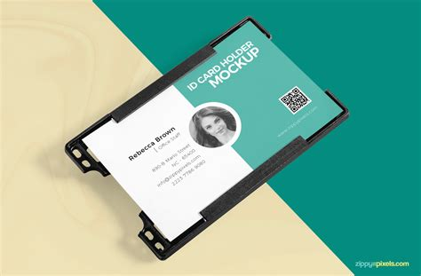 r280 id card tray template psd free id card holder mockup zippypixels