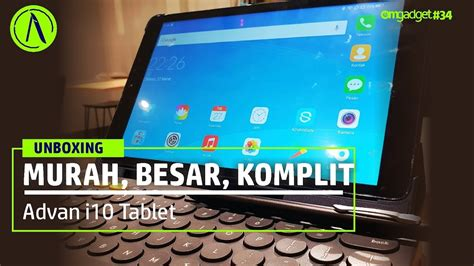 Advan I10 by Unboxing Advan I10 Tablet Murah Komplit