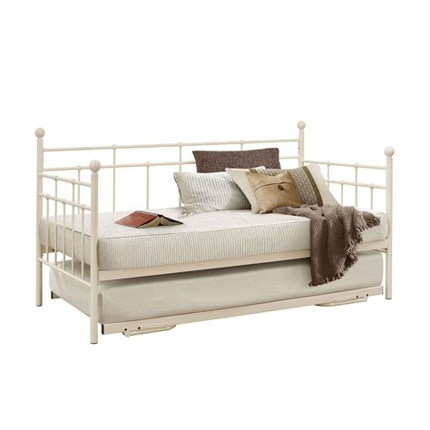 White Metal Daybed With Trundle Metal Daybed With Trundle White Metal Daybed With Trundle By Homelegance Decorate My House