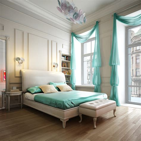 aqua blue bedroom stunning home interior renders