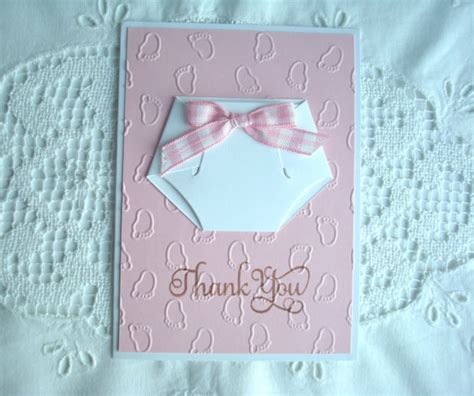 Handmade Baby Shower Thank You Cards - items similar to thank you baby handmade card