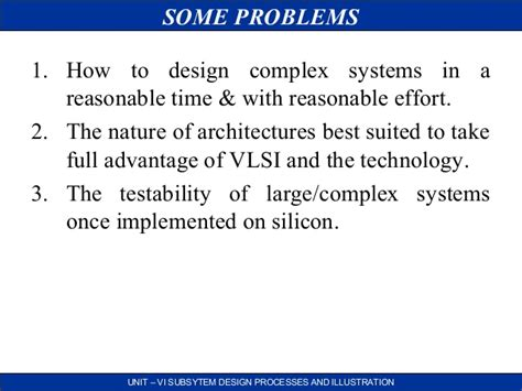 subsystem design and layout in vlsi vlsi subsystem design processes and illustration