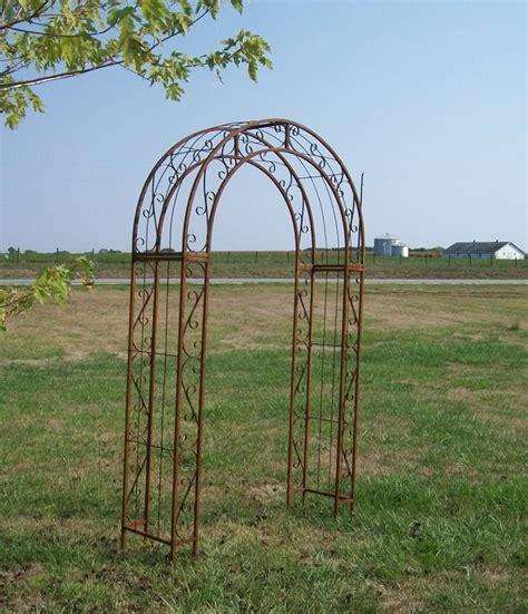 garden trellis metal wrought iron top garden trellis arches 60 quot