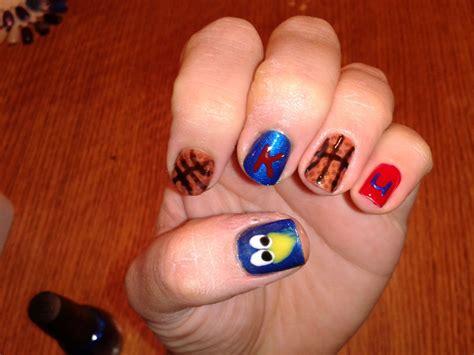 ku colors ku basketball nails for terra soak gel nail