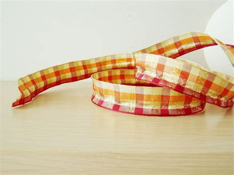 wired ribbon crafts gold plaid ribbon crafts wired ribbon in gold