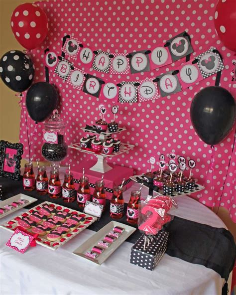 Minnie Mouse Birthday Decoration Ideas by Minnie Mouse Birthday Ideas Photo 5 Of 12 Catch