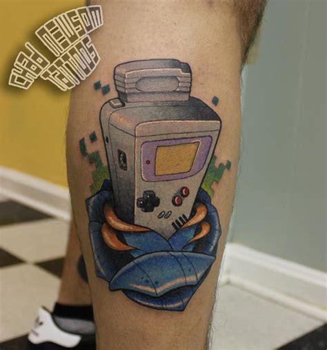 tattoo station instagram game boy by chad newsom tattoonow
