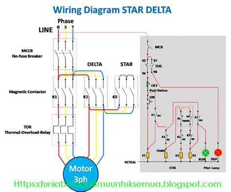 Wiring Diagram Rangkaian Star Delta Untuk Starting Motor