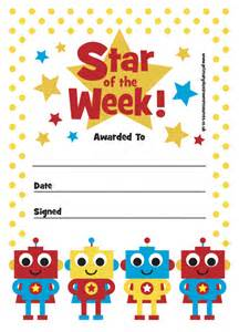 Of The Week Certificate Template by Print Your Own Certificate Of The Week Robot