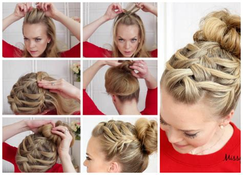 how to braid short hair step by step how to double waterfall triple french braid hair style