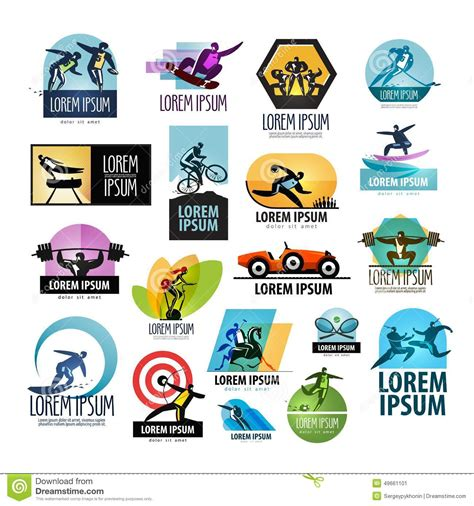 sports logo design templates sport vector logo design template fitness or stock vector