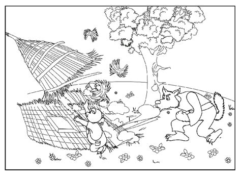 three little pigs coloring book coloring pages