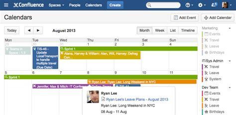 Confluence Calendar Team Calendars For Confluence Atlassian Marketplace