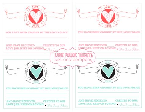 free printable valentine tickets a year of free printables 2013 edition kiki company