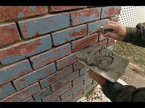 how to repoint a brick foundation this house