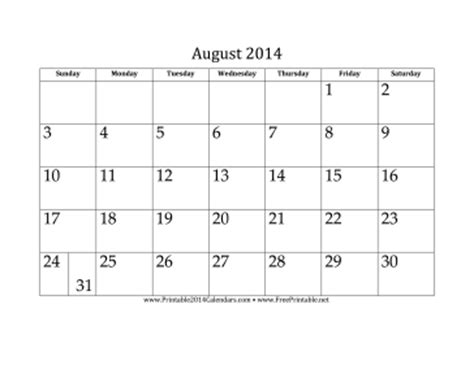printable monthly calendar august 2014 search results for august 2014 wedding calendar printable