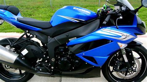 Kawasaki Blue by Review 2011 Kawasaki Zx6r In Blue