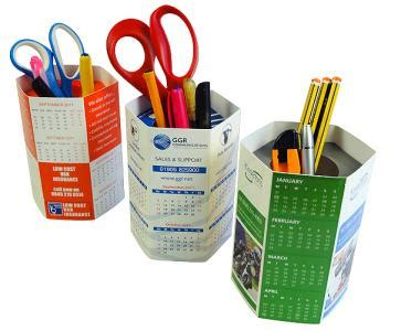 Calendar Pencil Holder Charm popupmailers 187 paper and printed promotional items vs digital no contest