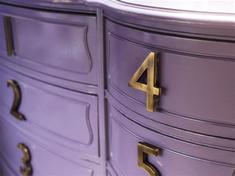 Number Drawer by How To Update A Dresser With House Numbers Hgtv