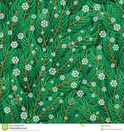 pine pattern stock pine twigs and snowflakes seamless pattern stock photo