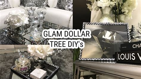 dollar tree diy home decor ideas glam mirror coffee table