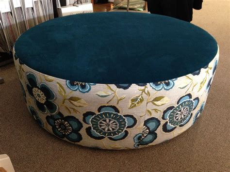 large round fabric ottoman oreo large round upholstered fabric or leather ottoman
