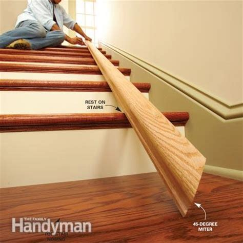 how to install a stair banister install a new stair handrail the family handyman